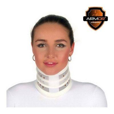 Guler cervical rigid BRN100, PVC, fara barbie, inaltime adjustabila
