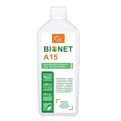 Dezinfectant concentrat pentru suprafete BIONET A15