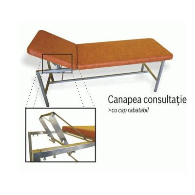 Canapea consultatii inox, cu suport hartie
