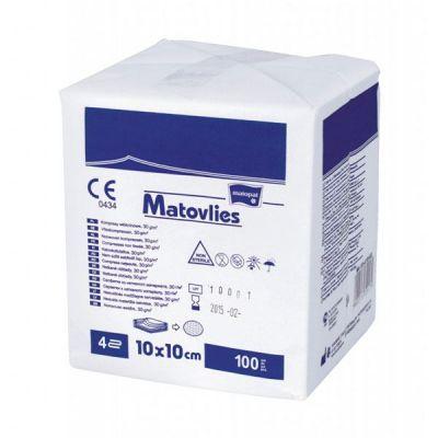 Comprese nesterile din netesut MATOVLIES, 4 straturi, 100 buc.