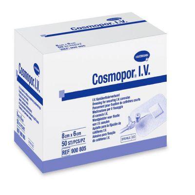 Plasturi sterili fixare branula COSMOPOR I.V., 8 x 6 cm, 50 buc.