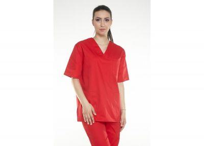 Uniforma medicala Oana 01 Rosu