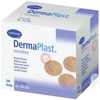 Plasturi rotunzi DERMAPLAST sensitive spots, 200 buc.