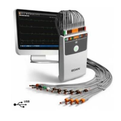 Electrocardiograf ECG cu 12 canale, cuplare la PC SE-1515