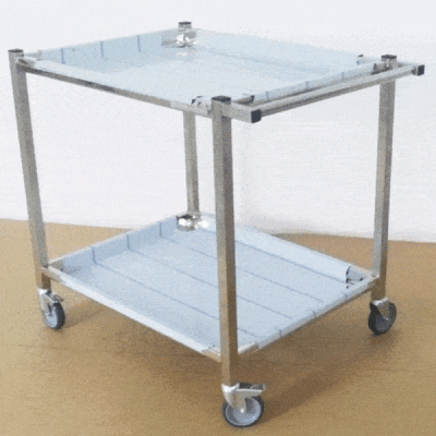 Carucior inox transport materiale sanitare/alimente