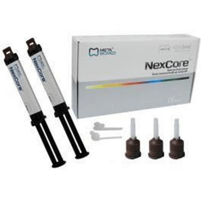 Ciment dual + accesorii NexCore Dual Seringe, Meta Biomed