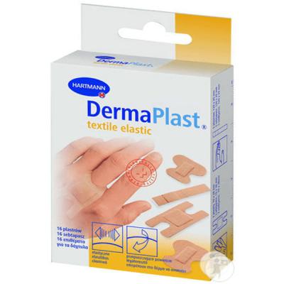 Plasturi DERMAPLAST textil elastic pt. zone dificile, 16 buc.