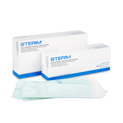 Pungi sterilizare autoadezive pentru autoclav, 135 mm x 250 mm, 100 buc.