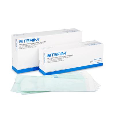 Pungi sterilizare autoadezive pentru autoclav, 140 mm x 280 mm, 100 buc.